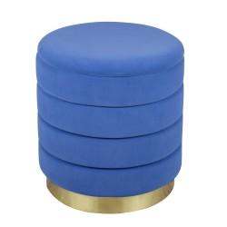 Set de 2 poufs bleu dur...