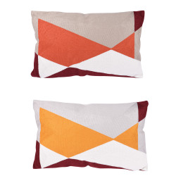 Coussin quadri orange 30x50...
