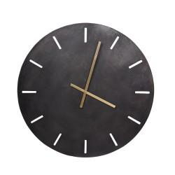 Horloge en métal noir 73 cm