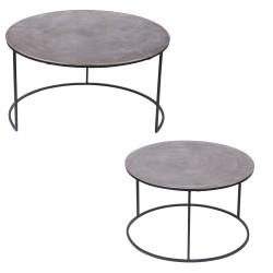 Set de 2 tables en nickel...