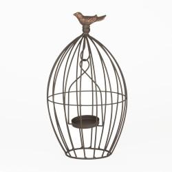 Porte bougie cage 18x18x31 cm