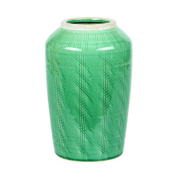 Vase droit 24 cm atlantis vert