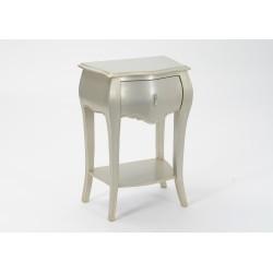 Chevet 1 tiroir silver Murano
