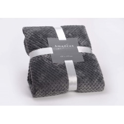 Plaid damier 130x170 gris...