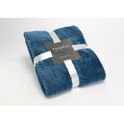 Plaid damier 130x170 bleu...