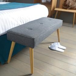 Banc gris en bois et polyester