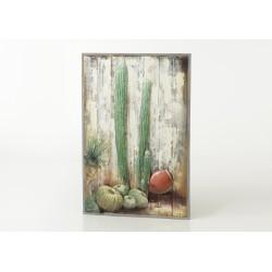 Plaque décorative cactus et...