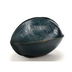 Ballon de rugby en cuir bleu