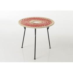 Table basse rouge Baya 50cm