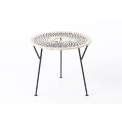 Table basse grise Baya 50 cm